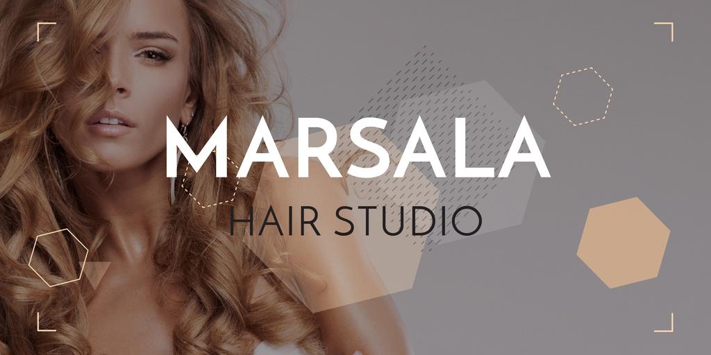 Marsala hair studio banner — Crear un diseño