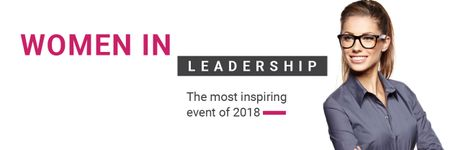 Women in Leadership event Email headerデザインテンプレート