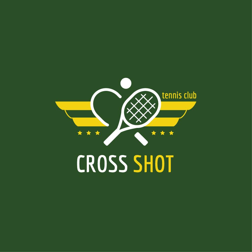 Tennis Club Ad with Rackets and Ball — Crear un diseño