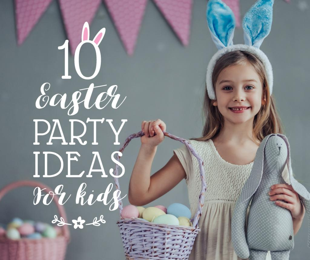 Easter party ideas for kids Facebook Design Template