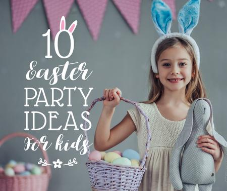 Easter party ideas for kids Facebook – шаблон для дизайну