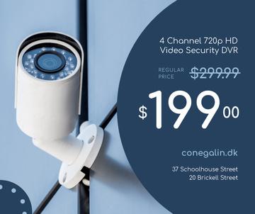 Surveillance Camera on Street
