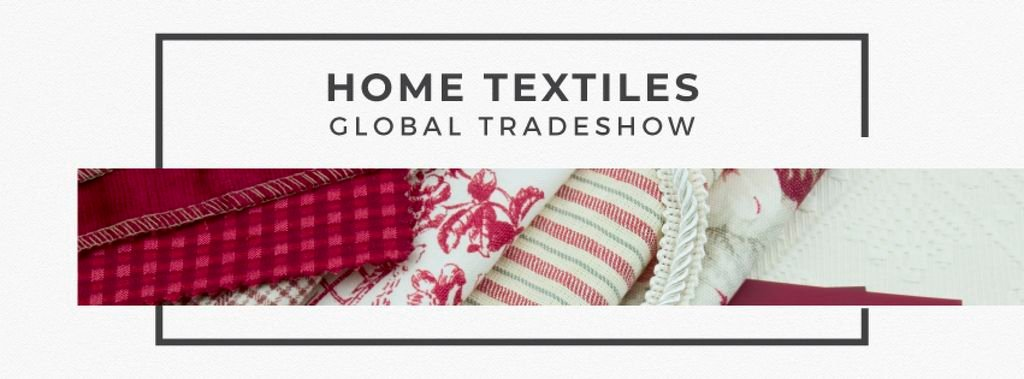 Home Textiles Event Announcement in Red — Modelo de projeto