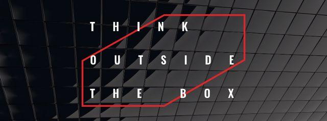 Modèle de visuel Inspirational Quote on Dark Texture - Facebook cover