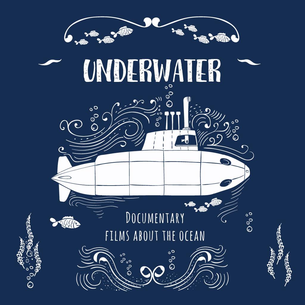 Underwater documentary film with Submarine Instagram AD – шаблон для дизайну