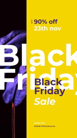 Plantilla de diseño de Black Friday Sale Dark paint blots Instagram Story