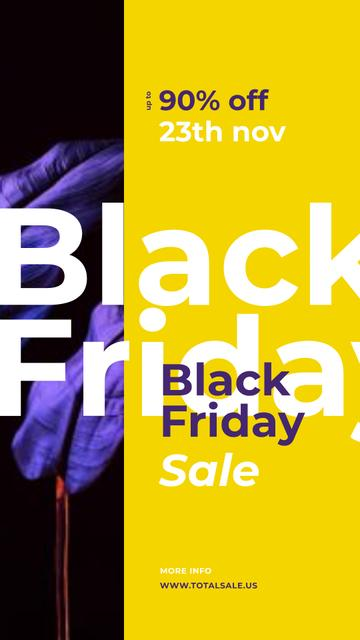 Black Friday Sale Dark paint blots Instagram Storyデザインテンプレート