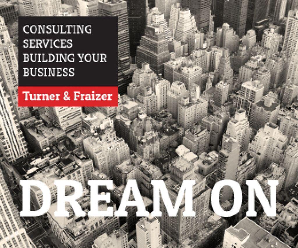 Consulting services advertisement Large Rectangle Tasarım Şablonu