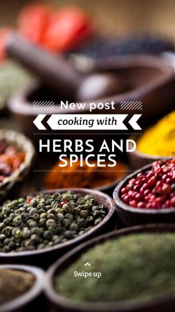 Ontwerpsjabloon van Instagram Story van Tips for using Spices with peppers