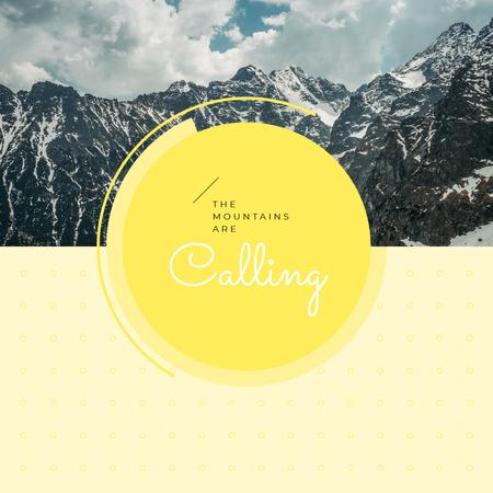 Template di design Scenic landscape with mountain peak Instagram