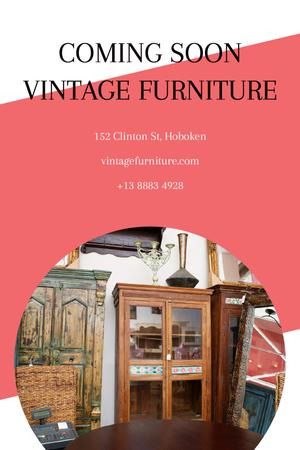 Template di design Vintage Furniture Shop Ad Antique Cupboards Tumblr