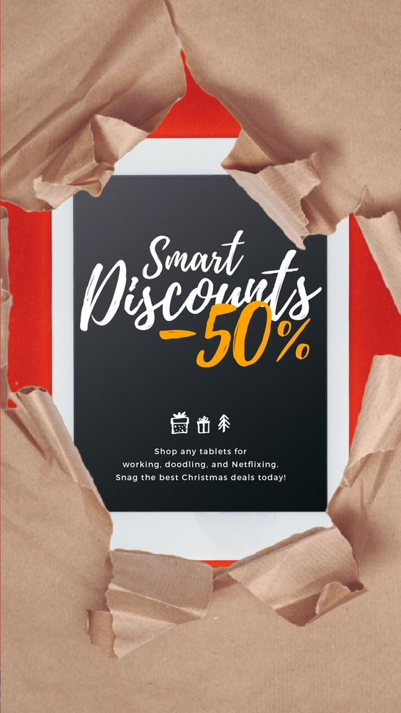 Christmas Discount Digital Tablet in Wrapping Paper — Crea un design