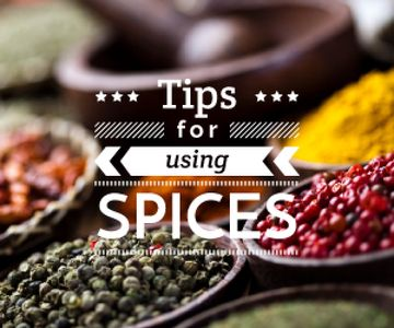 tips for using spices card