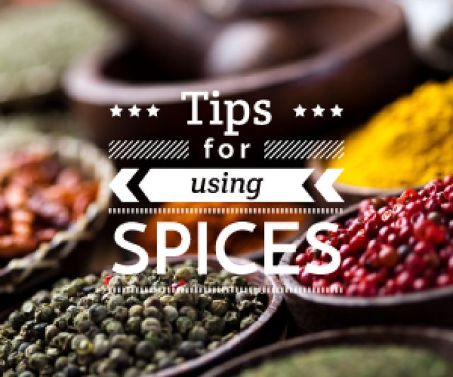 tips for using spices card Medium Rectangle Design Template