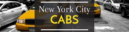 Ontwerpsjabloon van Twitter van New York city cabs