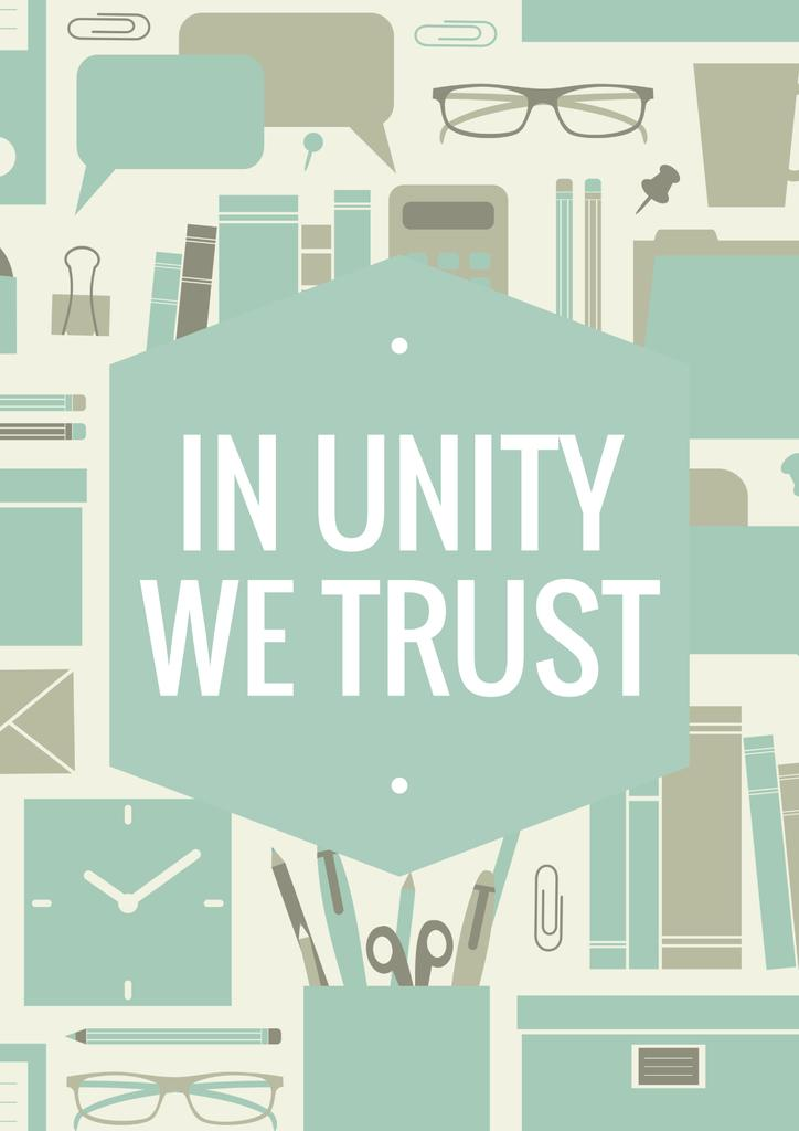In unity we trust poster — Create a Design