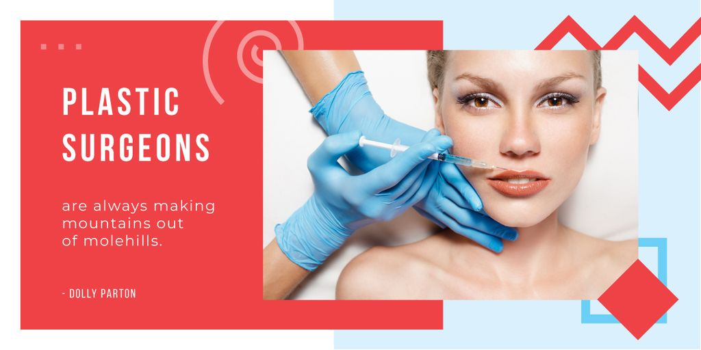 Woman getting lip injection — Create a Design