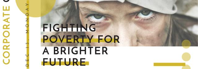 Poverty quote with child on Corporate Charity Day Tumblr – шаблон для дизайна