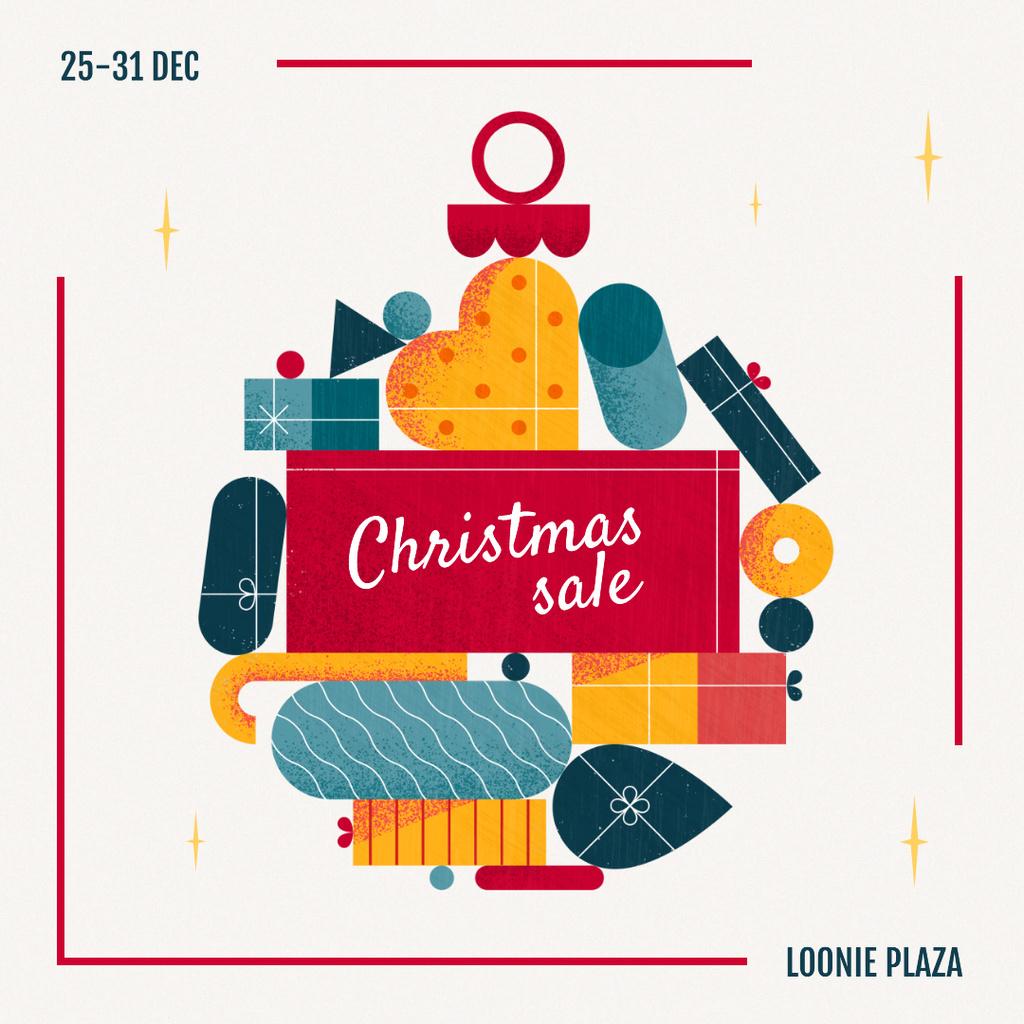 Christmas Sale Winter Holidays Attributes Instagram Tasarım Şablonu