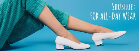 Shoes Store Female Legs in Heeled Shoes Facebook cover Tasarım Şablonu