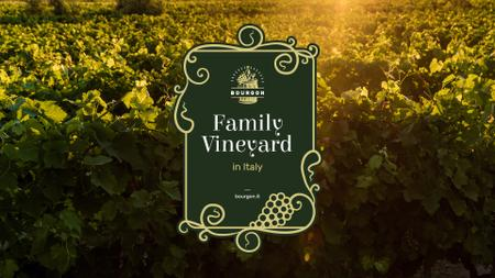 Vineyard Invitation with Scenic Field View Presentation Wide Tasarım Şablonu