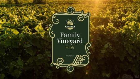 Vineyard Invitation with Scenic Field View Presentation Wide – шаблон для дизайна