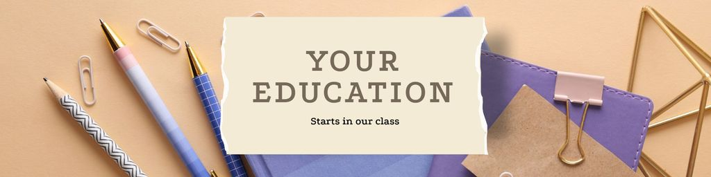 Education Courses with stationery — Maak een ontwerp