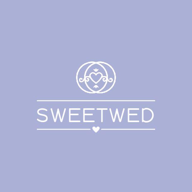 Plantilla de diseño de Wedding Agency Ad Heart in Rings Animated Logo