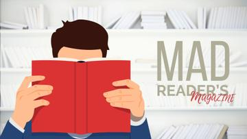 Reading Inspiration Man with Red Book | Full Hd Video Template