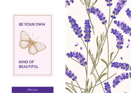 Lavender flowers pattern Postcard Modelo de Design