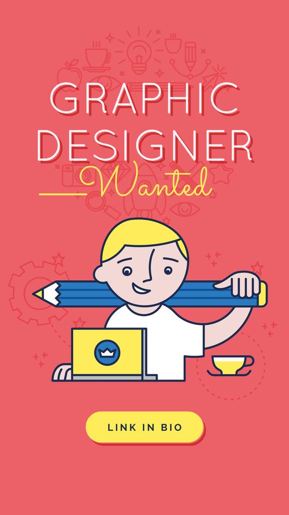 Modèle de visuel Designer working on laptop - Instagram Story
