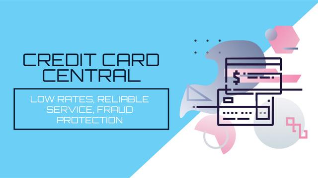Credit cards icons Full HD video Tasarım Şablonu