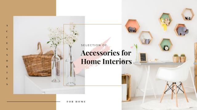Home Decor Ad with Vases and Furniture Youtube Design Template
