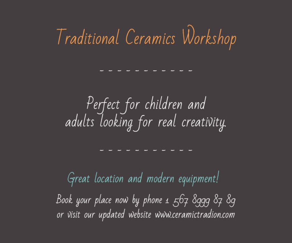 Traditional Ceramics Workshop — Crea un design