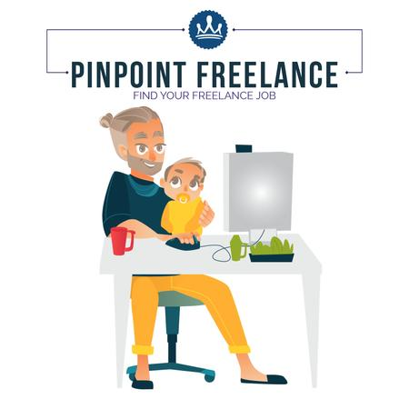 Plantilla de diseño de Freelancers working at home Animated Post