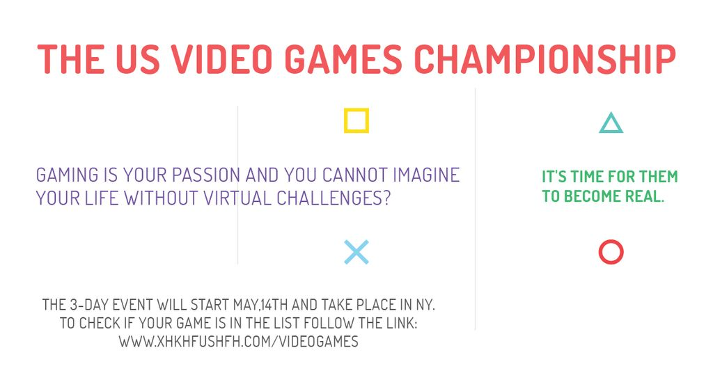 Video games Championship  — Crea un design