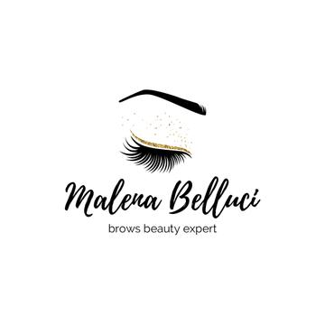 Brow Bar Ad Female Eye and Lashes | Logo Template