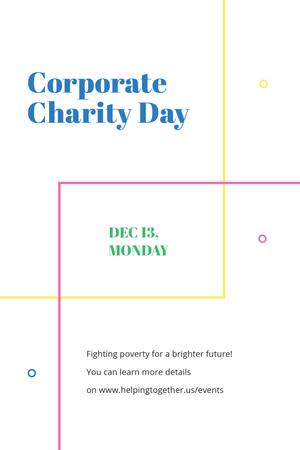 Corporate Charity Day on simple lines Tumblr Modelo de Design