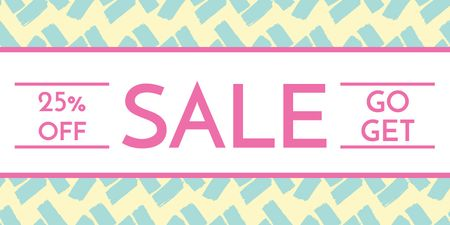 Sale Announcement on Bright Pattern Twitterデザインテンプレート