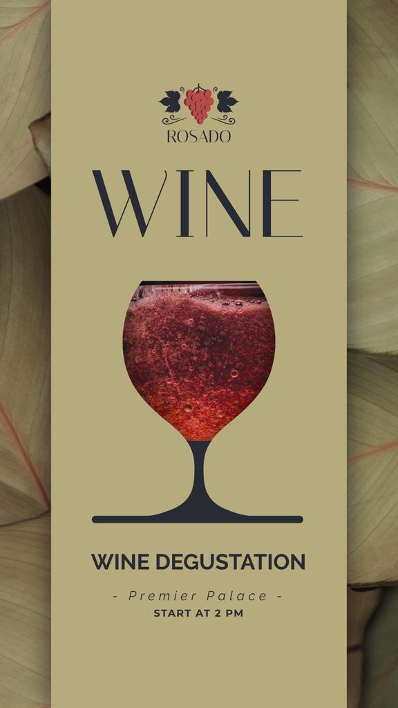 Red Wine Pouring in Glass — Maak een ontwerp