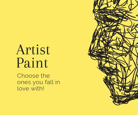 Artist Paint poster Medium Rectangle – шаблон для дизайну