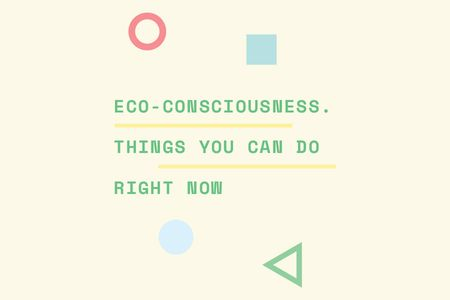 Eco-consciousness concept Gift Certificateデザインテンプレート