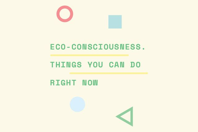 Eco-consciousness concept Gift Certificate Design Template