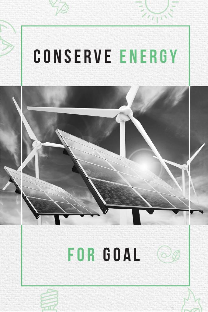 Green Energy with Wind Turbines and Solar Panels — Crear un diseño