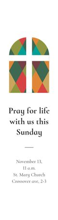 Plantilla de diseño de Pray for life with us this Sunday Skyscraper