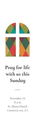 Template di design Pray for life with us this Sunday Skyscraper