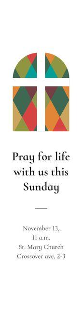 Pray for life with us this Sunday Skyscraper Tasarım Şablonu