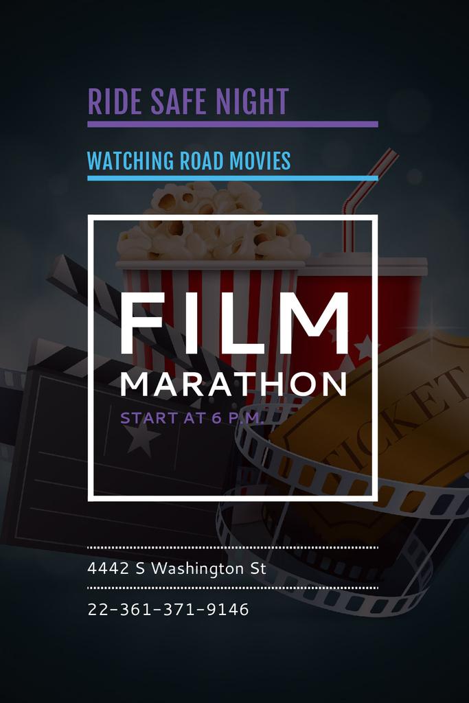 Film marathon night — Modelo de projeto
