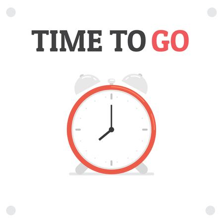 Plantilla de diseño de Time Management with Ringing Alarm Clock Animated Post