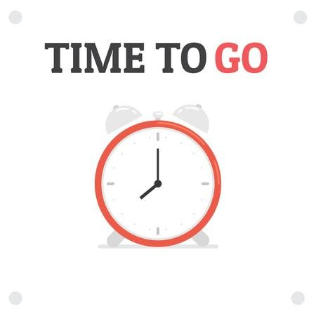 Time Management with Ringing Alarm Clock Animated Post – шаблон для дизайна